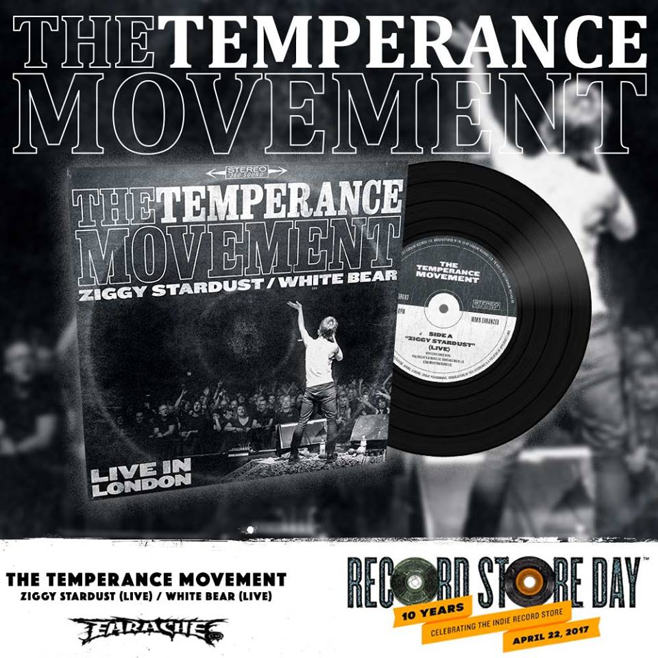 Music Poster Promo The Temperance Movement White Bear